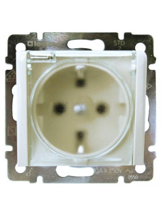 Розетка электрическая с крышкой и влагозащитой IP44 Valena (Legrand 774220)