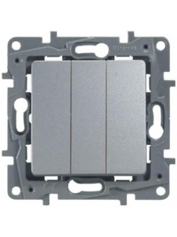 Выключатель трехклавишный Etika (Legrand 672413)