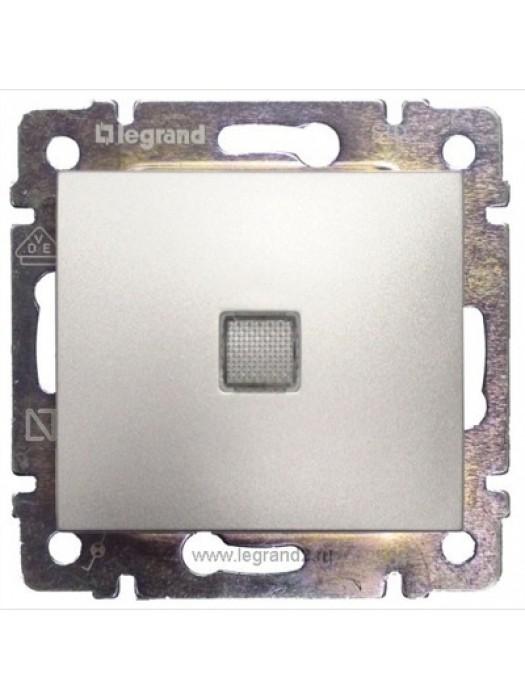 Выключатель одноклавишный с подсветкой Valena (Legrand 770110)