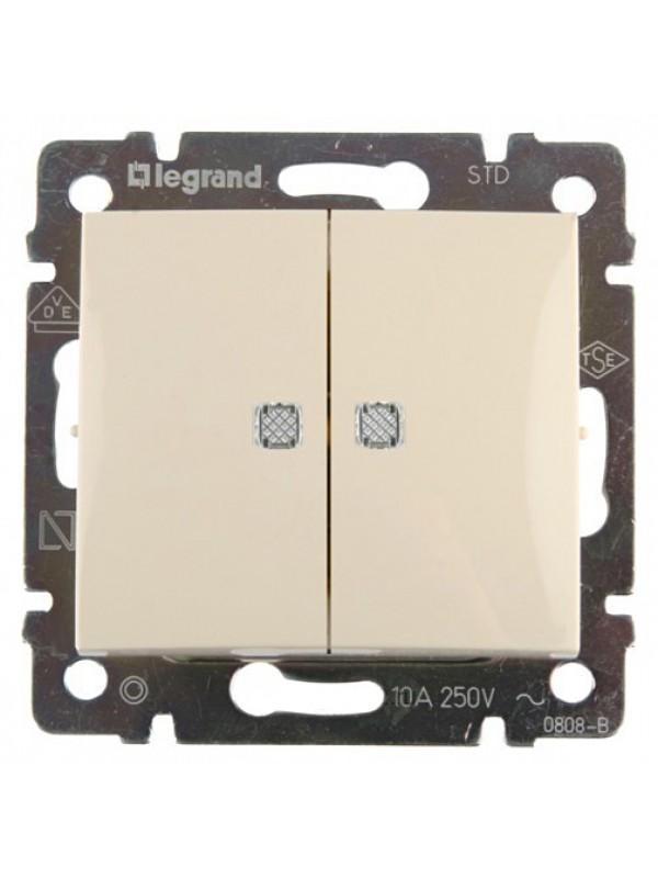 Выключатель двухклавишный Valena (Legrand 774328)