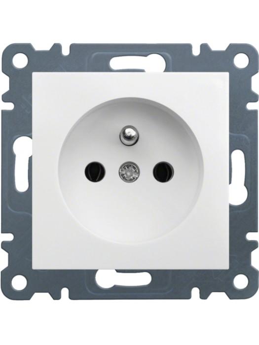 Розетка электрическая с заземлением Lumina 2 (Hager WL1020)