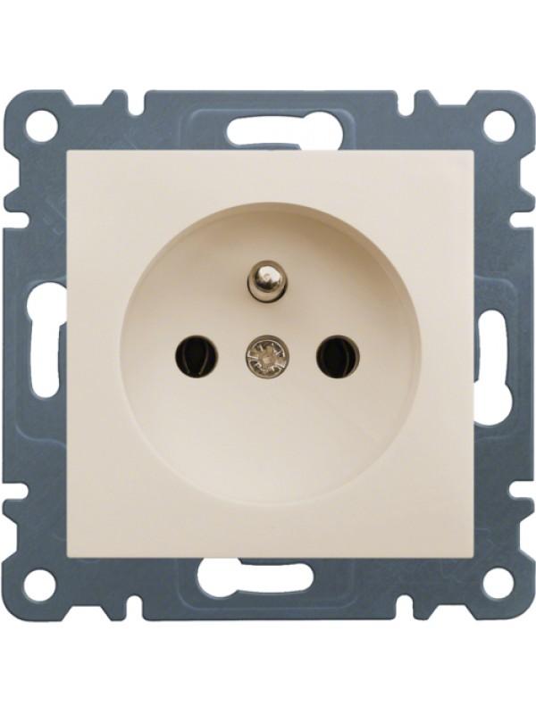 Розетка электрическая с заземлением Lumina 2 (Hager WL1021)
