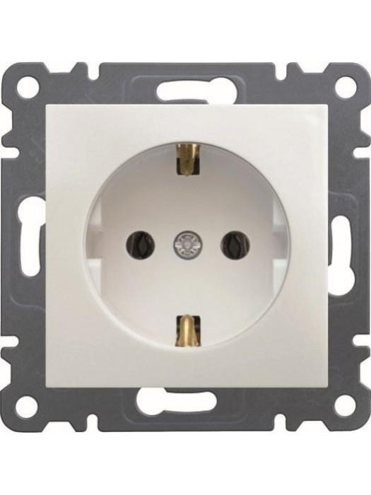 Розетка электрическая с заземлением Lumina 2 (Hager WL1050)