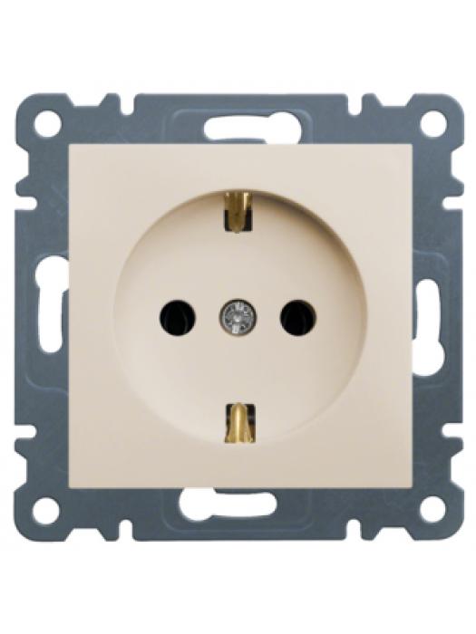 Розетка электрическая с заземлением Lumina 2 (Hager WL1051)