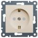 Розетка электрическая, заземление + шторки Lumina 2 (Hager WL1061)