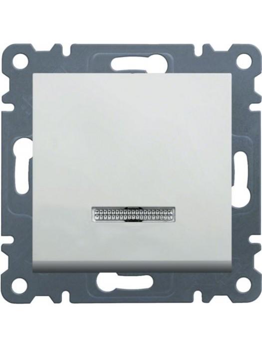 Выключатель одноклавишный с подсветкой Lumina 2 (Hager WL0210)