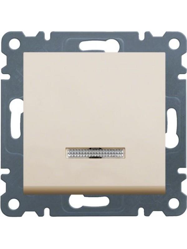 Выключатель универсальный с подсветкой Lumina 2 (Hager WL0221)
