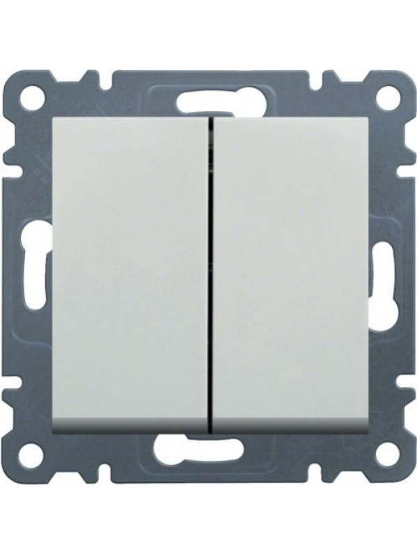Выключатель двухклавишный Lumina 2 (Hager WL0040)