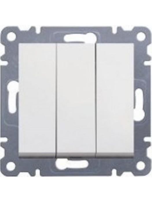 Выключатель трехклавишный Lumina 2 (Hager WL0070)