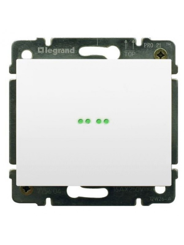 Выключатель одноклавишный с подсветкой Galea (Legrand 775600+777011)