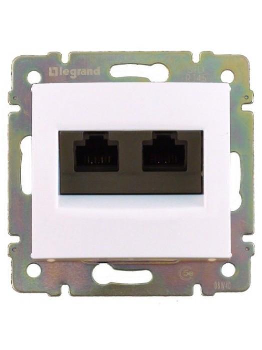 Розетка компьютерная 6e UTP Valena (Legrand 774247)