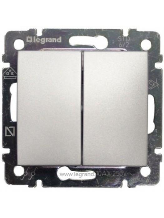 Выключатель проходной двухклавишный Valena (Legrand 770108)