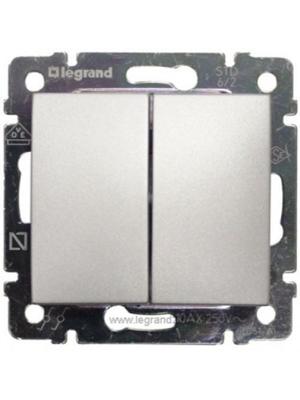 Выключатель двухклавишный Valena (Legrand 770105)