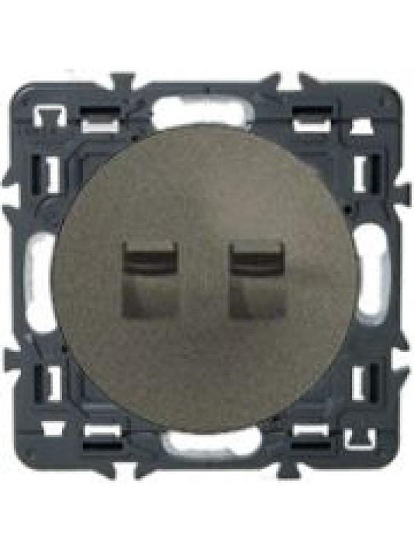 Выключатель двух-клав. Celiane (Legrand 67016+64905)
