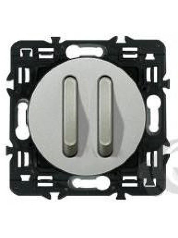 Выключатель двух-клав. бесшумный Celiane (Legrand 67013+68318)