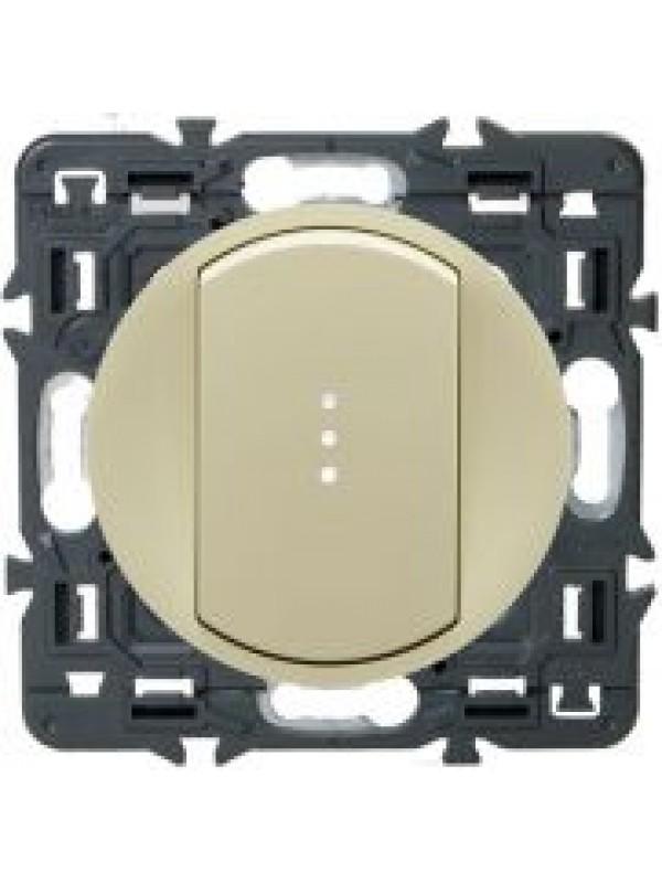 Выключатель одн-клав. Celiane (Legrand 67001+66210)