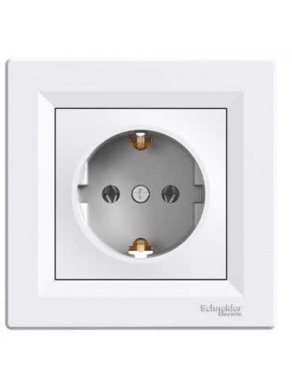 Розетка электрическая с заземлением Asfora (Schneider EPH2900121)