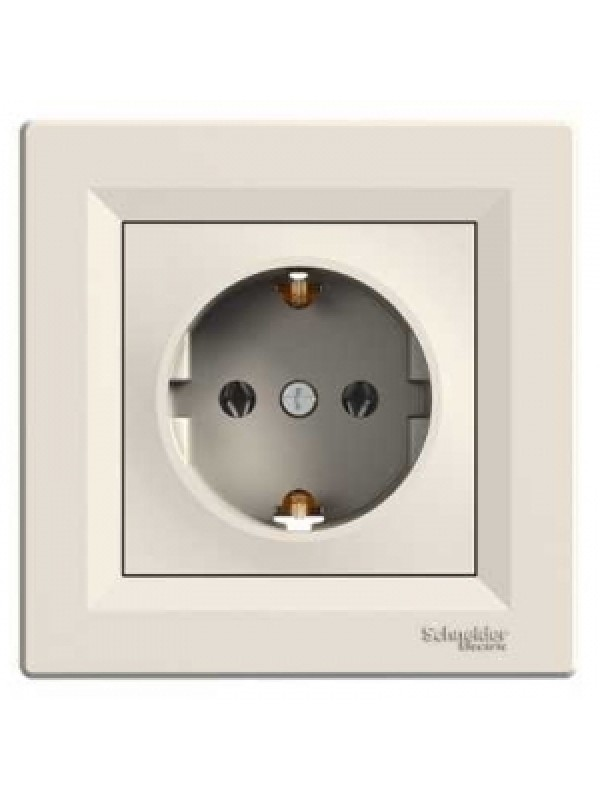 Розетка электрическая с заземлением Asfora (Schneider EPH2900123)