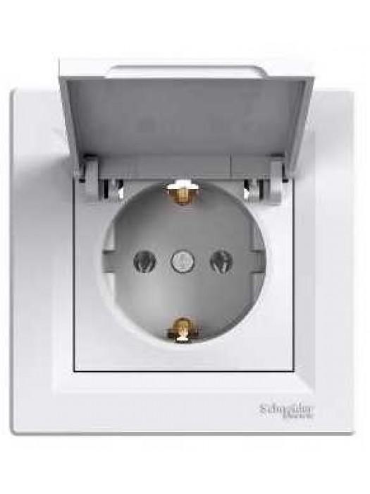 Розетка электрическая с крышкой Asfora (Schneider EPH3100121)