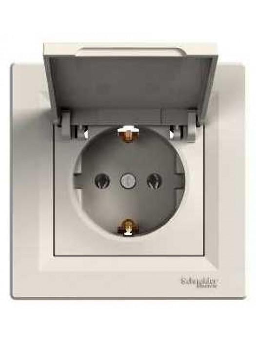 Розетка электрическая с крышкой Asfora (Schneider EPH3100123)